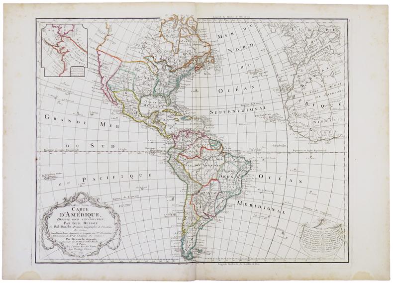 Carte d'Amérique dressée pour l'instruction.. L'ISLE (Guillaume de).