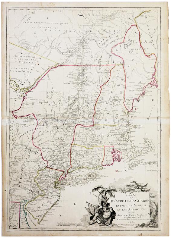 Carte du théatre de la guerre entre les Anglais et les Américains dressée d'après les cartes anglaises les plus modernes.. BRION de la TOUR (Louis).