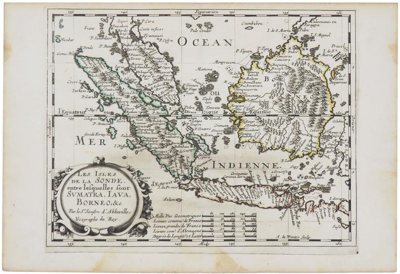 [SUMATRA/JAVA/BORNÉO] Les isles de la Sonde, entre lesquelles sont Sumatra, Java, Bornéo, &c.. SANSON d'ABBEVILLE (Nicolas).
