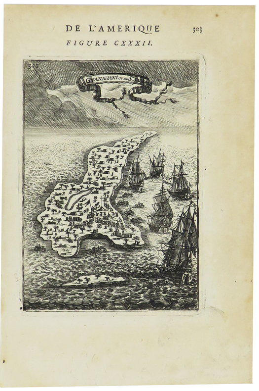 [BAHAMAS] I. de Guanahani ou de S.t Salvador.. MANESSON-MALLET (Allain).