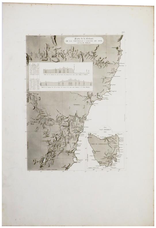 [AUSTRALIE/TASMANIE] Partie de la colonie de la Nouvelle-Galles du Sud, à la Nouvelle-Hollande.. FREYCINET (Louis-Claude Desaulses de).