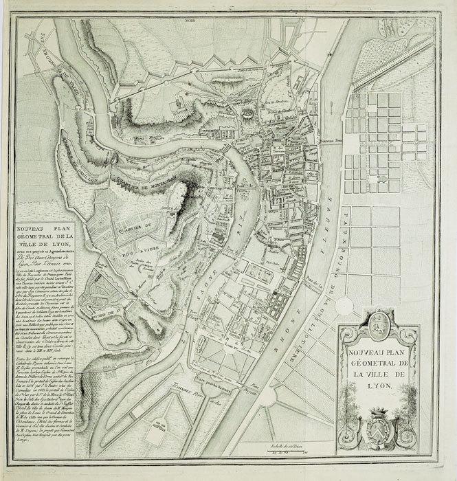 Nouveau plan géométral de la ville de Lyon.. ANONYME;