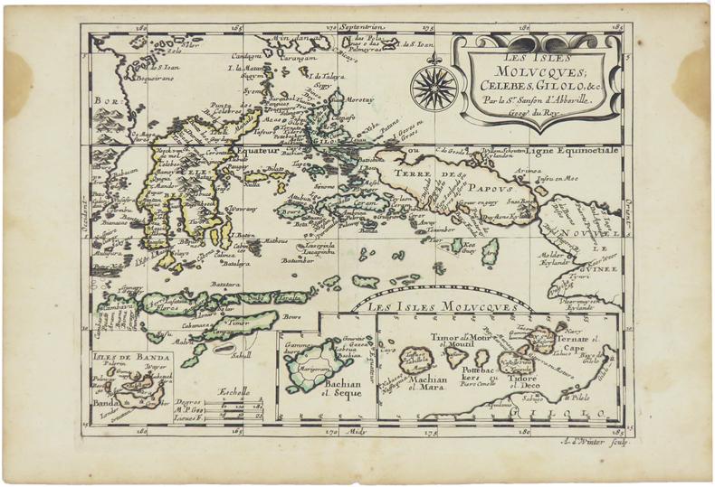 [ÎLES MOLUQUES] Les isles Molucques, Célèbes, Gilolo, &c.. SANSON d'ABBEVILLE (Nicolas).