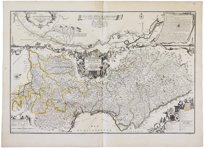 Le Canal Royal de Languedoc pour la jonction des deux mers Océan et Méditerranée - Le Gouvernement général de Languedoc divisé en Haut et Bas ...