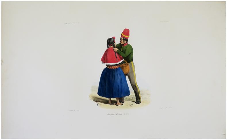 [PÉROU] Costumes de Lima (Pérou).. DU PETIT-THOUARS (Louis-Marie Aubert).