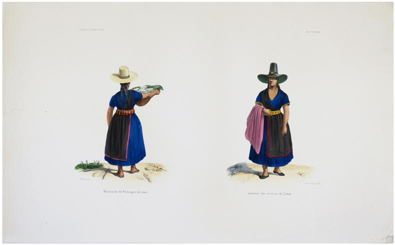 [PÉROU] Marchande de fromages de Lima - Indienne des environs de Lima.. DU PETIT-THOUARS (Louis-Marie Aubert).