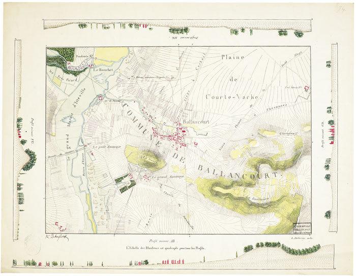 [Carte de la région de Ballancourt-sur-Essonne].. DELÉCEY de CHANGEY (Louis-Charles). MANUSCRIT.