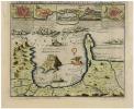 [ÎLES d'HYÈRES/FORT de BRÉGANÇON] Les isles d'Hyères et le Fort de Brégançon, et autres forces de Provence etc.. ALLARD (Carel).