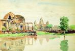 Vue d'Angkor Vat.. CAMBODGE — BONNIGAL (Paul) attribué à.