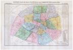 Nouveau plan de Paris fortifié et des communes de la banlieue.. VUILLEMIN (Alexandre).