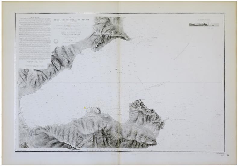 [SAINT-TROPEZ] Plan du golfe de S.t Tropez ou de Grimaud (Côtes de Provence, Dép.t du Var).. DÉPÔT-GÉNÉRAL DE LA MARINE.