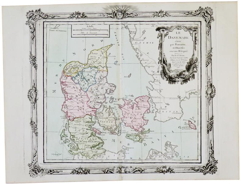 Le Danemark divisé par provinces et diocèses.. BRION de la TOUR (Louis).