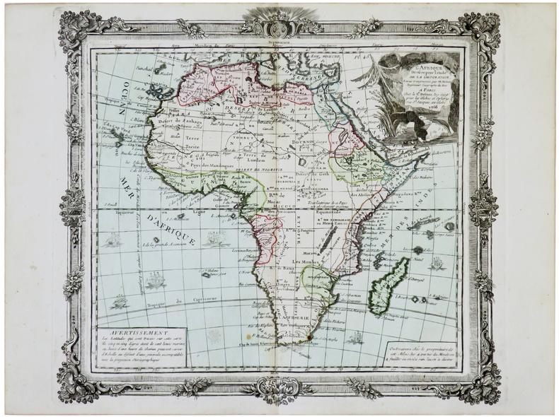L'Afrique dressée pour l'étude de la géographie.. BRION de la TOUR (Louis).