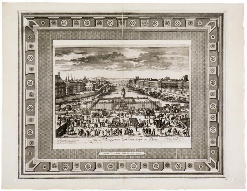 Veüe et perspective du Pont-Neuf de Paris.. PERELLE (Gabriel).