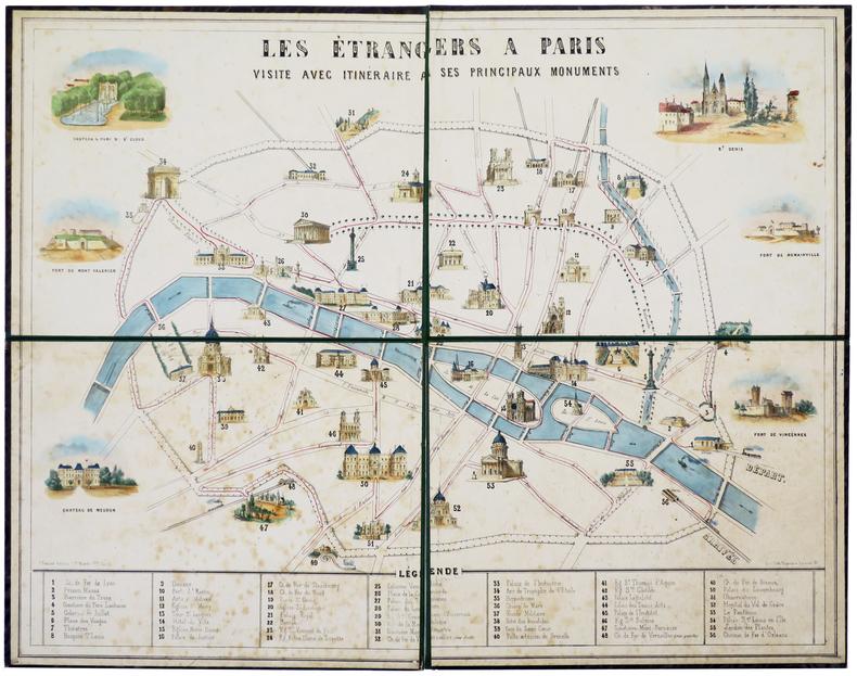 Les étrangers à Paris. Visite avec itinéraire à ses principaux monuments.. VAYRON (François Benjamin).