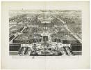 [VERSAILLES] Veüe générale de la ville et du château de Versailles du côté des jardins.. AVELINE (Antoine).
