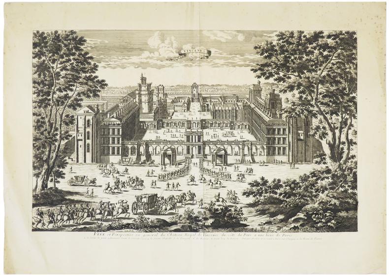 [VINCENNES] Veüe et perspective en général du château royal de Vincenes, du côté du parc à une lieüe de Paris.. AVELINE (Antoine).