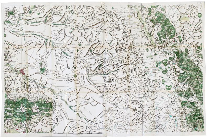 [REIMS] Carte de Cassini. Feuille n°39/79.. CASSINI de THURY (César-François).