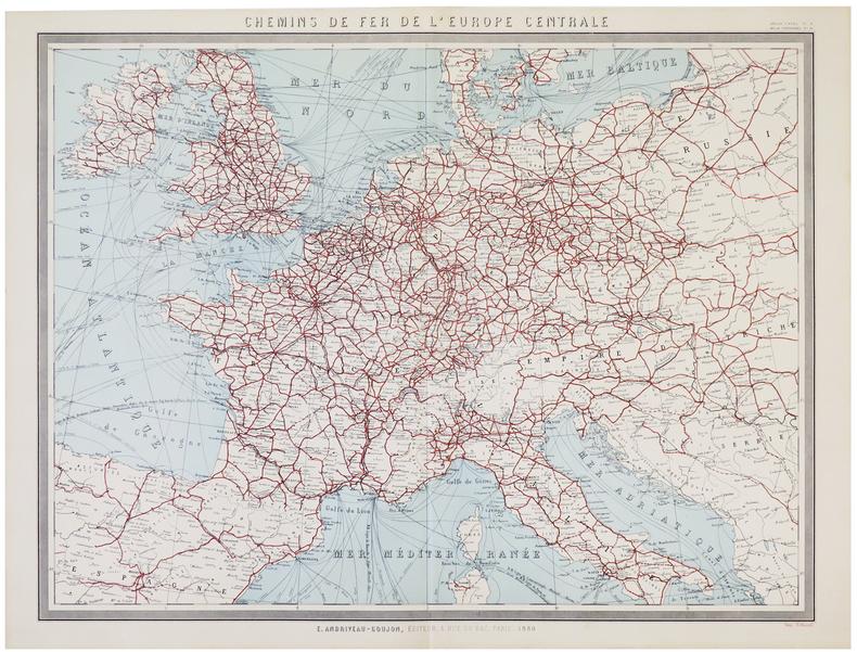 [CHEMINS de FER] Chemins de fer de l'Europe centrale.. ANDRIVEAU-GOUJON (Eugène).