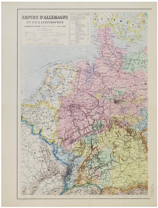 Empire d'Allemagne et pays limitrophes.. ANDRIVEAU-GOUJON (Eugène).