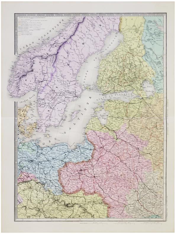 Carte de l'Europe orientale comprenant la Russie d'Europe, l'Empire ottoman et la Grèce.. ANDRIVEAU-GOUJON (Eugène).