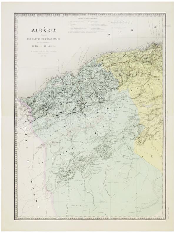 Algérie d'après les cartes de l'État-Major et les documents du Ministère de la Guerre.. ANDRIVEAU-GOUJON (Eugène).