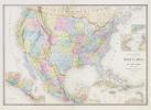 Carte générale des États-Unis et du Mexique comprenant l'Amérique Centrale et les Antilles.. ANDRIVEAU-GOUJON (Eugène).
