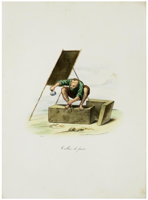 Tailleur de pierre.. MALPIÈRE (D. Bazin de).
