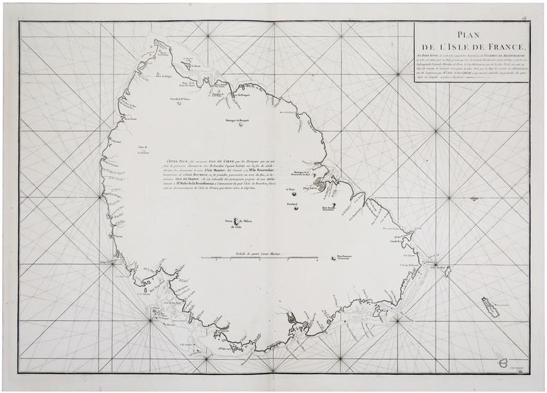 [ÎLE MAURICE] Plan de l'Isle de France.. APRES de MANNEVILLETTE (Jean-Baptiste-Nicolas-Denis d').