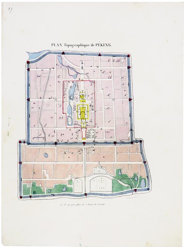 [PÉKIN/BEIJING] Plan topographique de Péking.. MALPIÈRE (D. Bazin de).