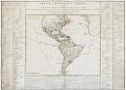 Tableau général de l'Amérique, comprenant les principales régions qui composent cette partie du monde ; leurs divisions par états ou provinces ; les ...