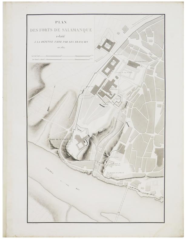 [SALAMANQUE] Plan des forts de Salamanque relatif à la défense faite par les Français en 1812.. BELMAS (Jacques-Vital) & TARDIEU (Ambroise).