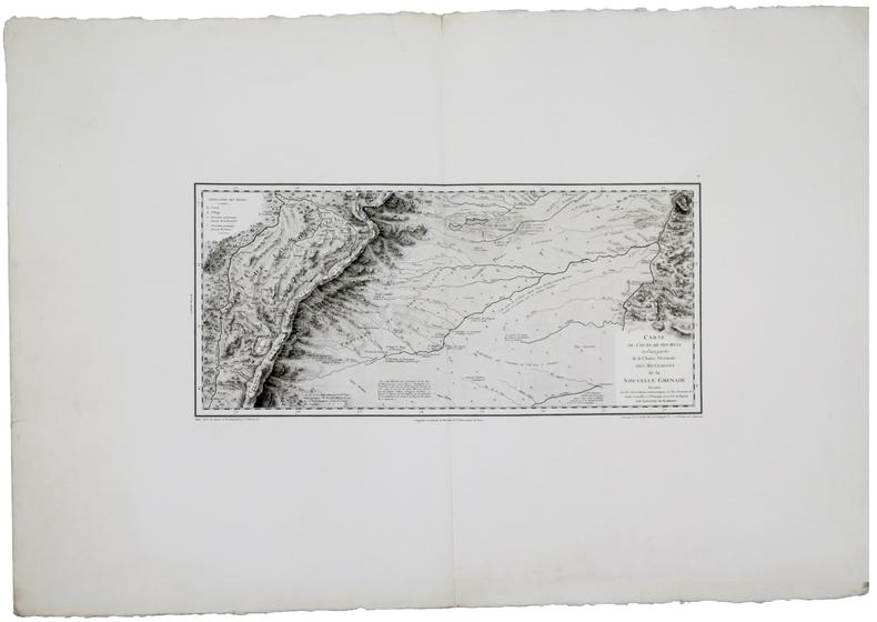 [COLOMBIE/BOGOTA] Carte du cours de Rio Meta et d'une partie de la chaîne orientale des montagnes de la Nouvelle Grenade.. HUMBOLDT ...
