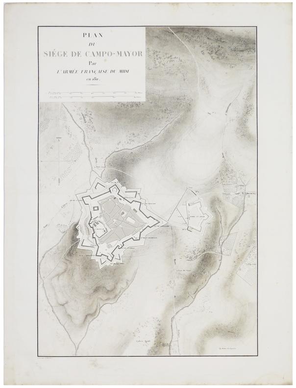 [CAMPO MAIOR] Plan du siège de Campo-Mayor par l'armée française du Midi en 1811.. BELMAS (Jacques-Vital) & TARDIEU (Ambroise).