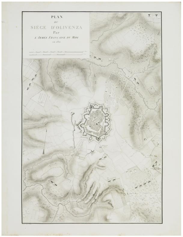 [OLIVENZA] Plan du siège d'Olivenza par l'armée française du Midi en 1811.. BELMAS (Jacques-Vital) & TARDIEU (Ambroise).
