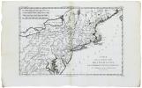 Carte de la partie nord, des États Unis, de l'Amérique septentrionale.. BONNE (Rigobert).