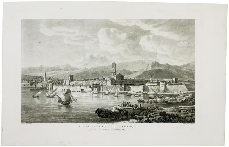 [CROATIE] Vüe de Spalatro et du Lazareth, prise du côté Elle-Botticelle.. CASSAS (Louis-François).