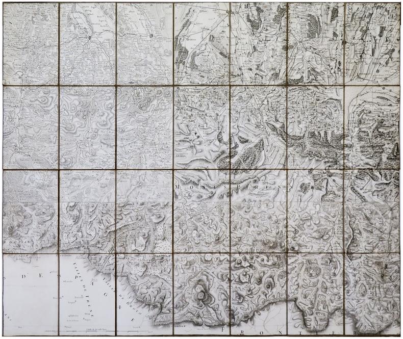 [PYRÉNÉES] Carte de Cassini. Pyrénées.. CASSINI de THURY (César-François).