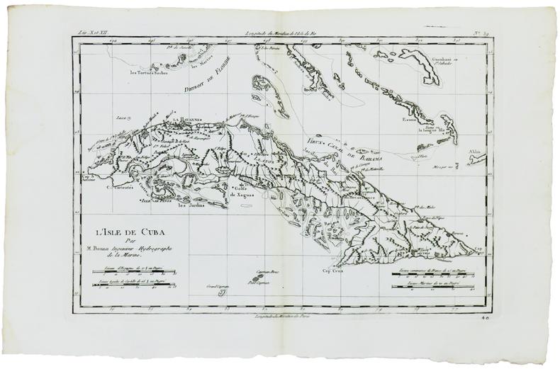 [CUBA] L'isle de Cuba.. BONNE (Rigobert).