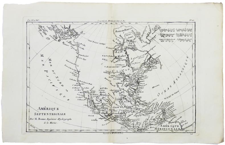 Amérique septentrionale.. BONNE (Rigobert).
