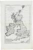 Carte des Isles Britanniques, contenant les royaumes d'Angleterre, d'Écosse et d'Irlande.. BONNE (Rigobert).