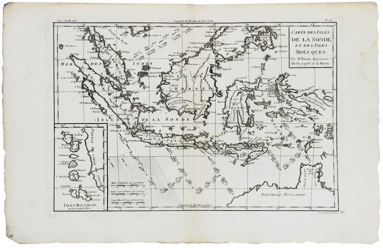 [ÎLES de la SONDE & MOLUQUES] Carte des isles de la Sonde, et des isles Moluques.. BONNE (Rigobert).
