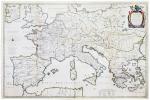 [EMPIRE de CHARLEMAGNE] Imperii Caroli Magni et vicinarum regionum descriptio.. BERTIUS (Petrus).