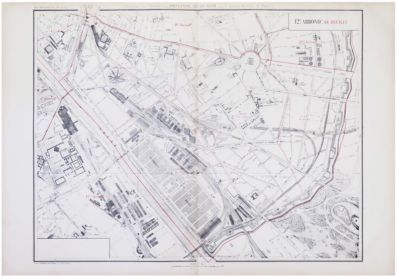 [PARIS 12ème arrondissement] 12.e arrond.t de Reuilly.. ALPHAND (Jean-Charles Adolphe) & FAUVE (L.).