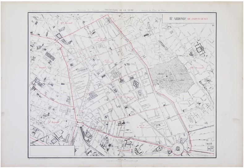 [PARIS 11ème arrondissement] 11.e arrond.t de Popincourt.. ALPHAND (Jean-Charles Adolphe) & FAUVE (L.).