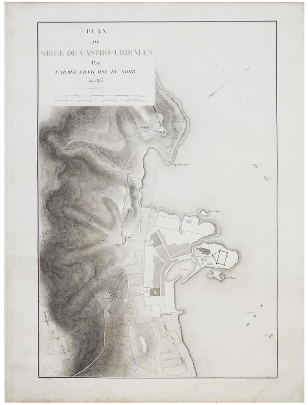 [CASTRO-URDIALES] Plan du siège de Castro-Urdiales par l'armée française du Nord en 1813.. BELMAS (Jacques-Vital) & TARDIEU (Ambroise).