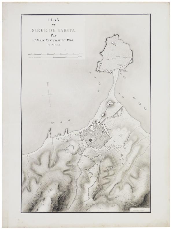 [TARIFA] Plan du siège de Tarifa par l'armée française du Midi en 1811 et 1812.. BELMAS (Jacques-Vital) & TARDIEU (Ambroise).