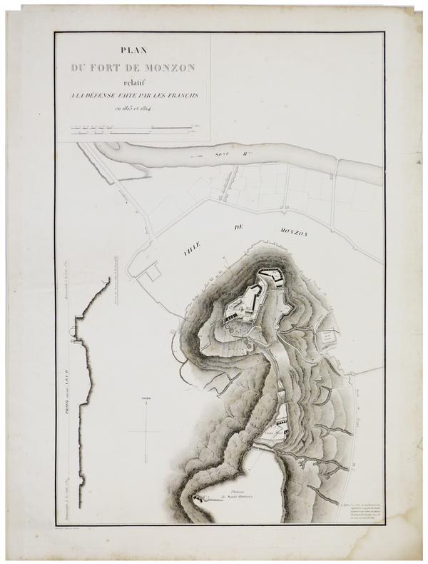 [MONZÓN] Plan du fort de Monzon relatif à la défense faite par les Français en 1813 et 1814.. BELMAS (Jacques-Vital) & TARDIEU (Ambroise).