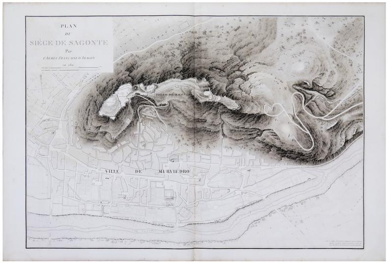 [SAGONTE] Plan du siège de Sagonte par l'armée française d'Aragon en 1811.. BELMAS (Jacques-Vital) & TARDIEU (Ambroise).