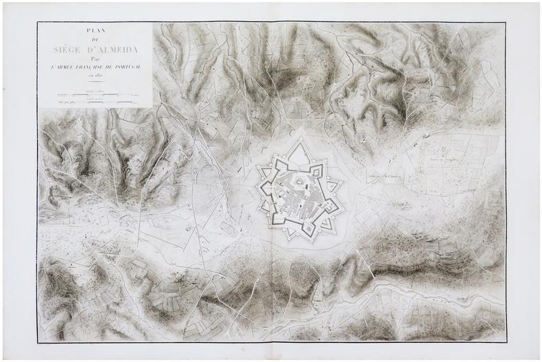 [ALMEIDA] Plan du siège d'Almeida par l'armée française de Portugal en 1810.. BELMAS (Jacques-Vital) & TARDIEU (Ambroise).